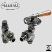 Abbey Throttle Manual Pewter Radiator Valve